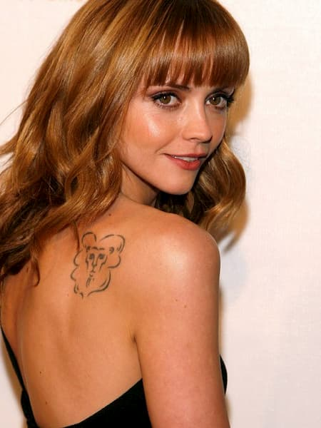 christina ricci lion tattoo