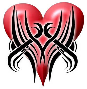 tribal designs pictures. tribal heart tattoo design