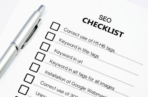 online seo factors checklist