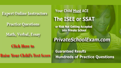 Private School Exam Test Prep