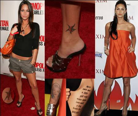 Interested more in uncensored Megan Fox Tattoos, then visit the exclusive