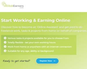Click Earners Get Paid to do Freelance Work