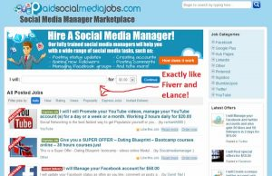 Paid Social Media Jobs marketplace