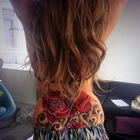 Cheryl Cole rose tattoo