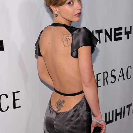 Christina Ricci lower back tattoo