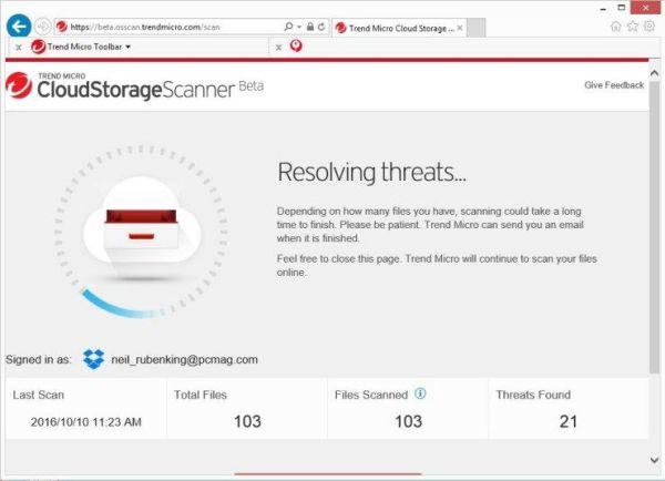 Trend Micro cloud storage scanner