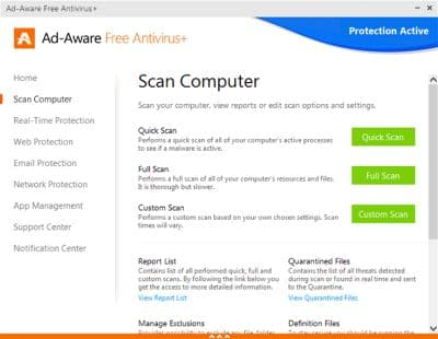 Ad-Aware scan