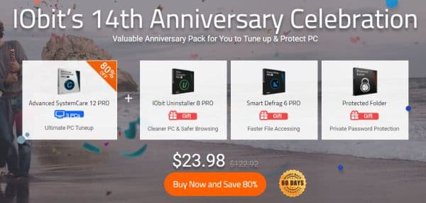 IObit's 14th Anniversary Celebration offer